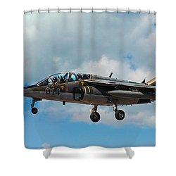 Alpha Jet 014 Shower Curtain by Bianca Nadeau