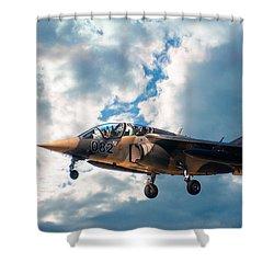 Alpha Jet 082 Shower Curtain by Bianca Nadeau