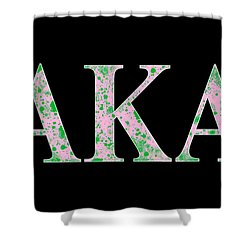 Alpha Kappa Alpha - Black Shower Curtain