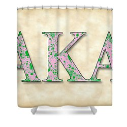 Alpha Kappa Alpha - Parchment Shower Curtain