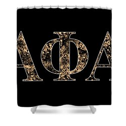 Alpha Phi Alpha - Black Shower Curtain