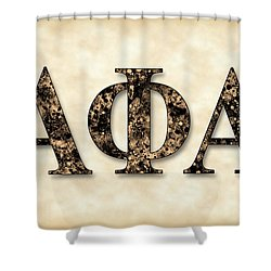 Alpha Phi Alpha - Parchment Shower Curtain