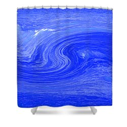 Alpha Wave By Jrr Shower Curtain by First Star Art