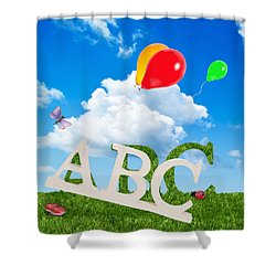 Alphabet Letters Shower Curtain by Amanda Elwell