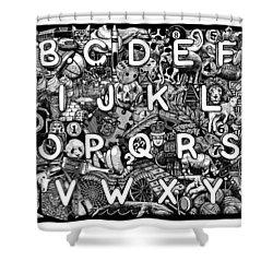 Alphabet Soup Shower Curtain