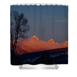 Shower Curtain featuring the photograph Alpenglow by Raymond Salani III