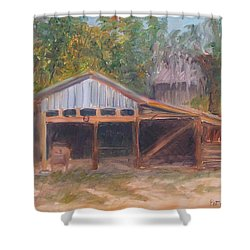 Alpine Groves Fruit Packing Shed Shower Curtain