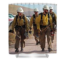 Alpine Hotshots Prepare To Ignite Cold Brook Prescribed Fire Shower Curtain