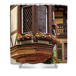 Alsace Window Shower Curtain by Brian Jannsen