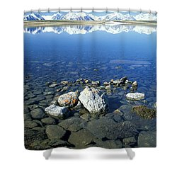 Altai Shower Curtain by Anonymous