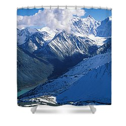 Altai Mountains Shower Curtain by Anonymous