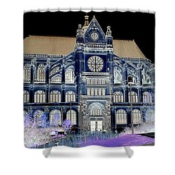 Altered Image Of Saint Eustache In Paris France Shower Curtain by Richard Rosenshein