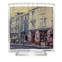 Altered Polaroid - Kybele Hotel 1 Shower Curtain by Wally Hampton