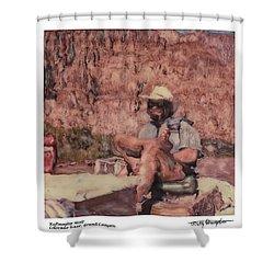 Altered Polaroid - Raft Master Matt Shower Curtain by Wally Hampton