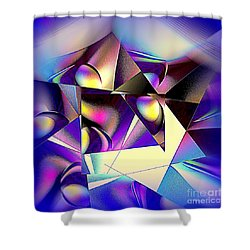 Shower Curtain featuring the digital art Altered View by Greg Moores