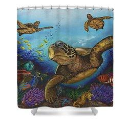 Alternate Universe Shower Curtain