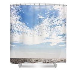 Altocumulus At Sea Shower Curtain