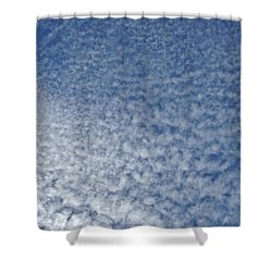 Shower Curtain featuring the photograph Altocumulus Clouds by Jason Williamson