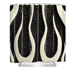 Aluminium Flames Shower Curtain