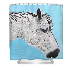 Alvaro Stallion Shower Curtain