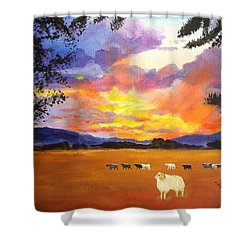 Alvin Counting Sheep Shower Curtain