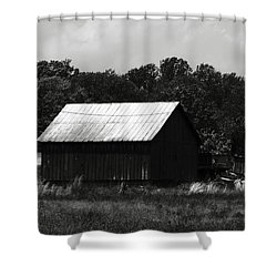 Always Gone Too Long Shower Curtain by Rebecca Sherman