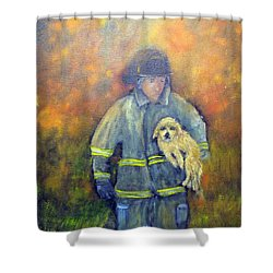 Always On Call - Fireman Shower Curtain