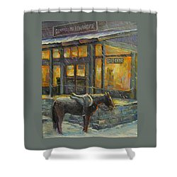 Shower Curtain featuring the painting Always Open by Donna Tucker
