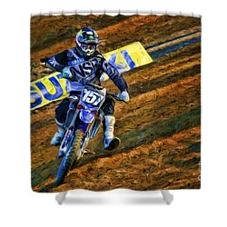 Ama 250sx Supercross Aaron Plessinger Shower Curtain