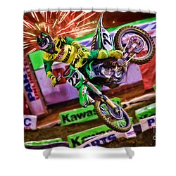 Ama 450sx Supercross Chad Reed Shower Curtain