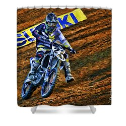 Ama 450sx Supercross Jason Anderson Shower Curtain