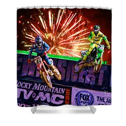 Ama 450sx Supercross Trey Canard Leads Chad Reed Shower Curtain