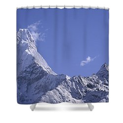 Shower Curtain featuring the photograph Ama Dablam Nepal by Rudi Prott