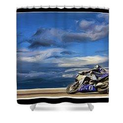 Ama Superbike Josh Jayes Shower Curtain