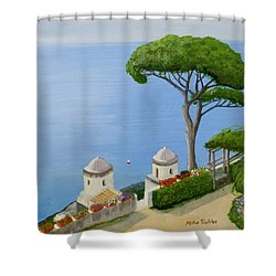 Amalfi Coast From Ravello Shower Curtain by Mike Robles