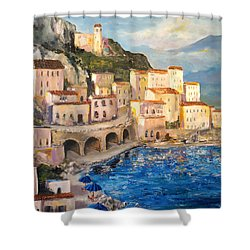 Amalfi Coast Highway Shower Curtain