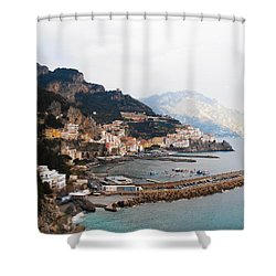 Amalfi Italy Shower Curtain by Bill Cannon
