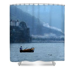Shower Curtain featuring the photograph Amalfi To Capri. Italy by Jennie Breeze