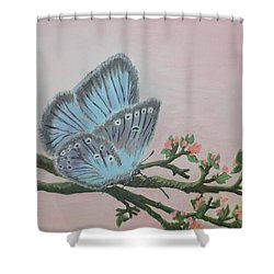 Amandas Blue Dream Shower Curtain