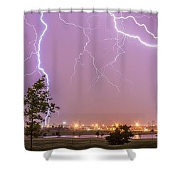 Amarillo Bolts Shower Curtain