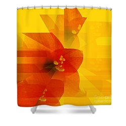 Amaryllis Shower Curtain