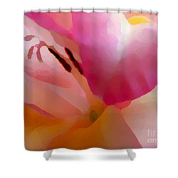 Gladiola Photo Painting Shower Curtain