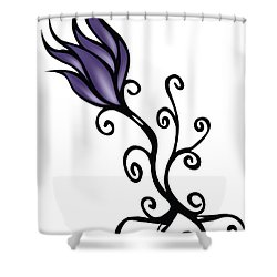 Shower Curtain featuring the digital art Amathist Rose by Jamie Lynn