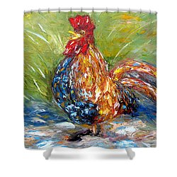 Amazed Rooster Shower Curtain