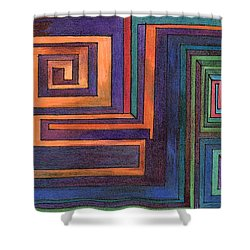 Shower Curtain featuring the mixed media Amazing by Mary Bedy