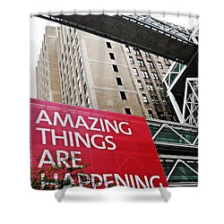 Amazing Things Shower Curtain by Sarah Loft