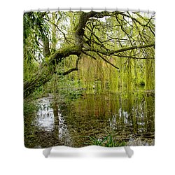 Amazingly Green Shower Curtain