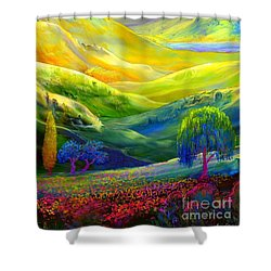 Wildflower Meadows, Amber Skies Shower Curtain