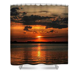 Amber Sunset Shower Curtain