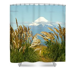 Amber Waves Of Osorno Shower Curtain